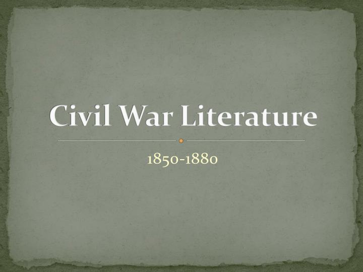 civil war literature n.