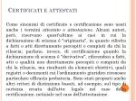 certificati e attestati