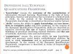 definizioni dall european qualifications framework