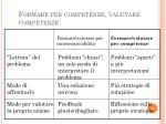 formare per competenze valutare competenze