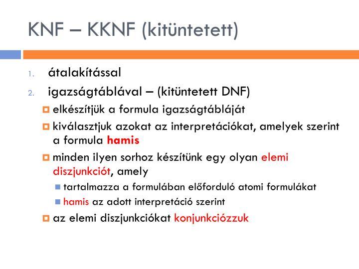 KNF – KKNF (kitüntetett)