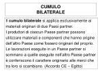 cumulo bilaterale