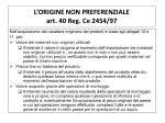 l origine non preferenziale art 40 reg ce 2454 97