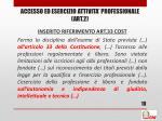 accesso ed esercizio attivita professionale art 2