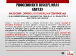procedimenti disciplinari art 8