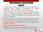 procedimenti disciplinari art 83