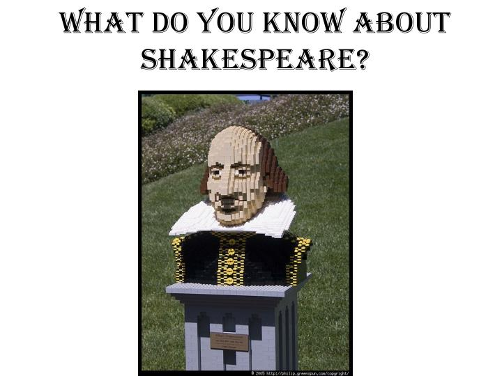what do you know about shakespeare n.
