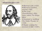 shakespeare s life1