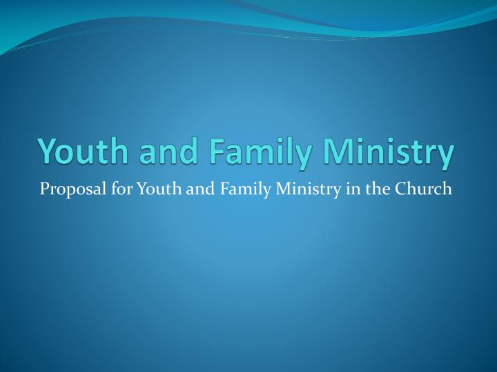 youth and family ministry n.