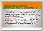 l imposizione comunale mancanza di stabilit legislativa 3