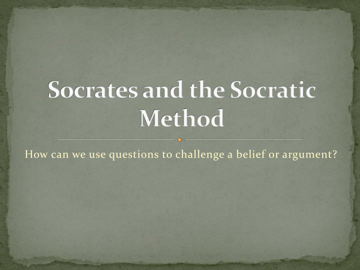 socrates and the socratic method n.