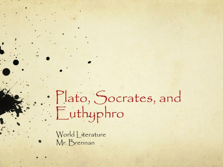 plato socrates and euthyphro n.