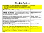 the pd options