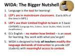 wida the bigger nutshell