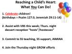 reaching a child s heart what you can do
