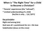 when is the right time for a child to become a christian