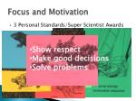 focus and motivation1