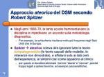 approccio ateorico del dsm secondo robert spitzer