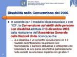 disabilit nella convenzione del 2006