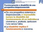 funzionamento e disabilit da una prospettiva biopsicosociale