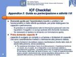 icf checklist appendice 2 guida su partecipazione e attivit 1 8