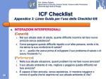 icf checklist appendice 3 linee guida per l uso della checklist 6 8