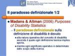 il paradosso definizionale 1 2