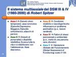 il sistema multiassiale del dsm iii iv 1980 2000 di robert spitzer