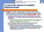 la teoria dei sistemi e il modello biopsicosociale