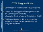 ctel program route