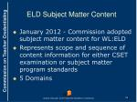 eld subject matter content