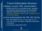 future authorization structure