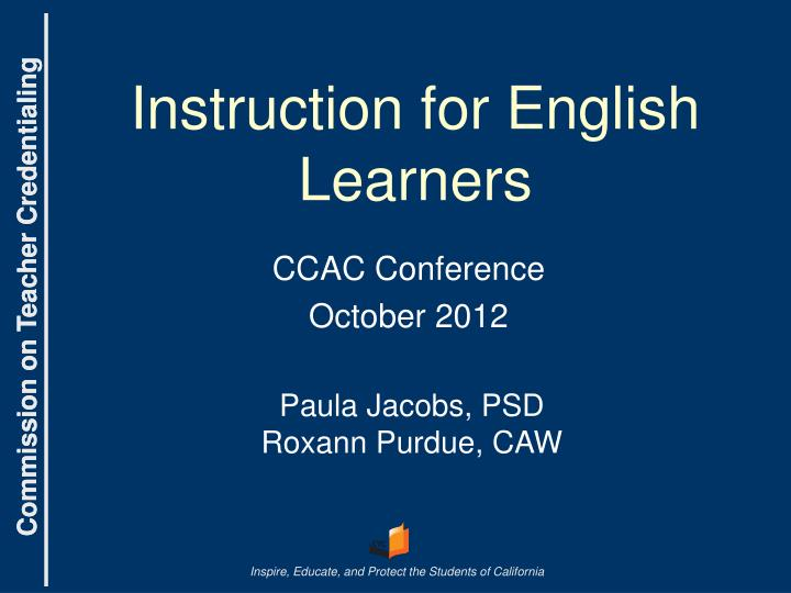 instruction for english learners n.