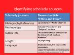 identifying scholarly sources