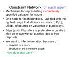 constraint network for each agent