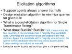 elicitation algorithms