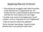 applying marxist criticism
