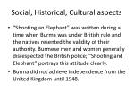 social historical cultural aspects