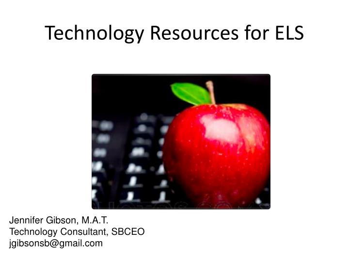 technology resources for els n.