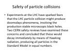 safety of particle collisions