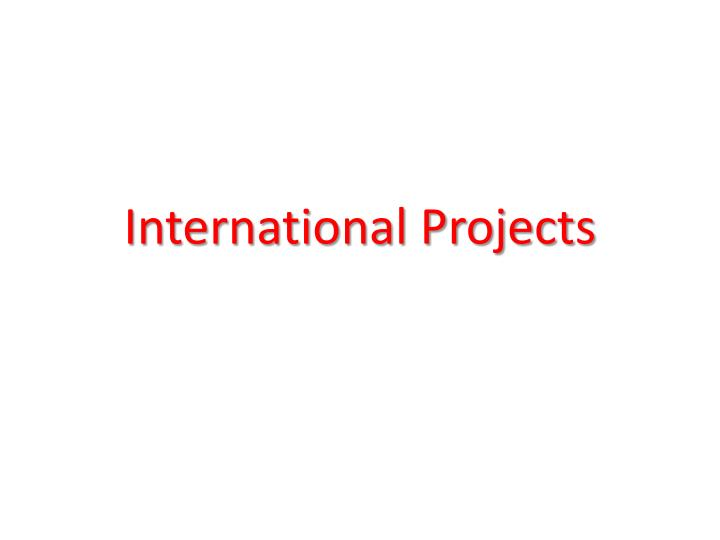 international projects n.