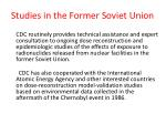 studies in the former soviet union