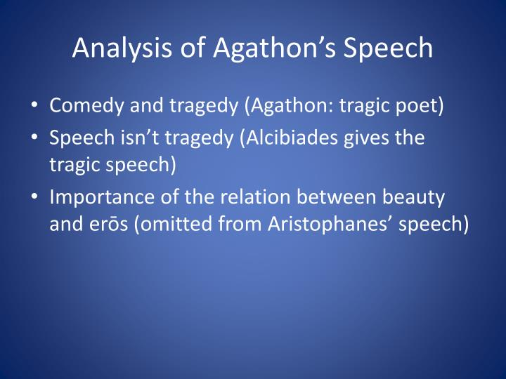 an analysis of the aristophanes speech Aristophanes' clouds study guide  throughout his version of socrates' defence speech,  • aristophanes:.