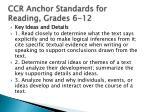 ccr anchor standards for reading grades 6 12