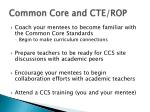 common core and cte rop