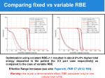 comparing fixed vs variable rbe
