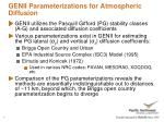 genii parameterizations for atmospheric diffusion