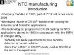 ntd manufacturing introduction