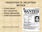perception vs deception mitnick