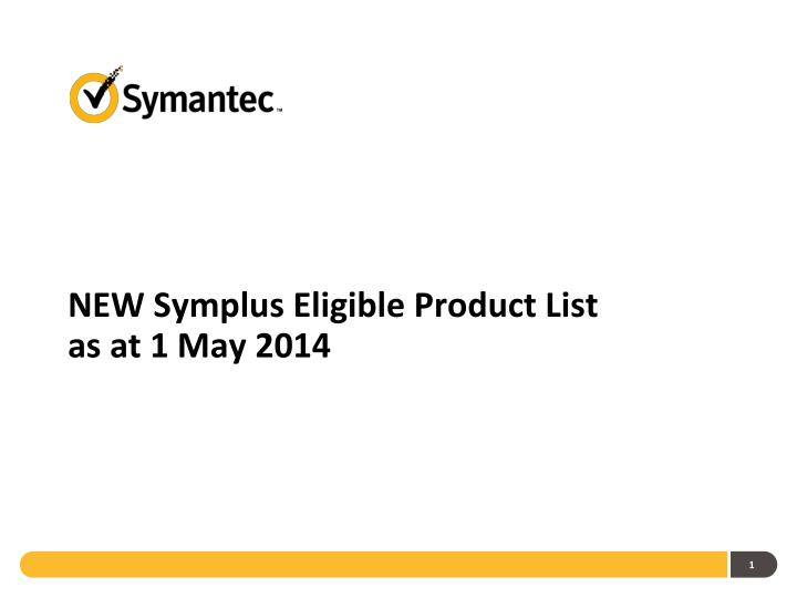new symplus eligible product list as at 1 may 2014 n.